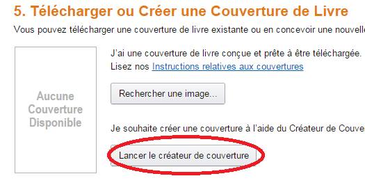 createur de couverture amazon