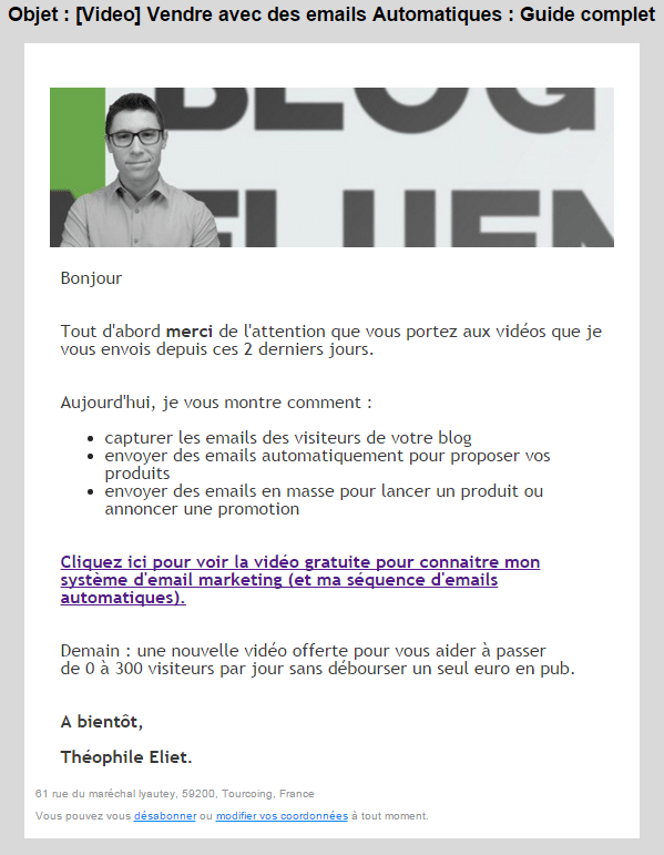 exemple emailing efficace