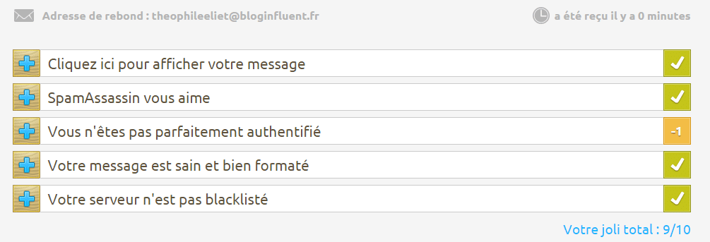 tester son email en spam