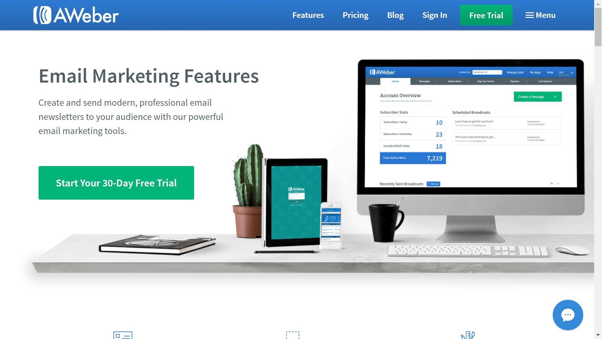 Aweber - email marketing